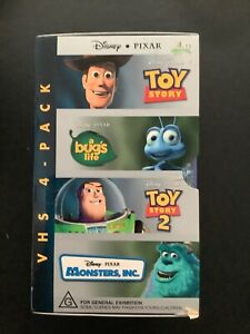 Disney Video Boxed Set Toy Story Bugs Life Monsters Inc Vhs Video