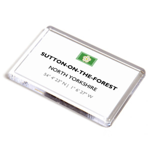 FRIDGE MAGNET - Sutton-on-the-Forest, North Yorkshire - Lat/Long SE5864
