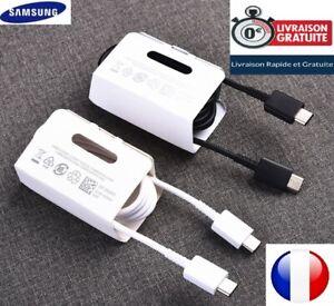 Cable Usb-C=>Usb-C Original  pour Samsung Note10/S10/S9 Noir/Blanc 3A EP-DG977