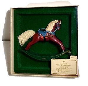 1983 Hallmark Keepsake Rocking Horse Ornament 3rd in Series in Original Box