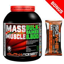 Mass Gainer Bulk Hard Gainer 2kg / 5 kg Masseaufbau Protein Whey Weight Gainer