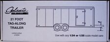 Galaxie 21 Foot Tandem 2 axle Tag Along Trailer plastic model kit 1/24 or 1/25