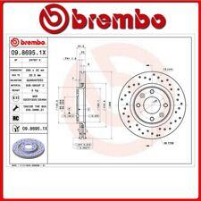 09.8695.1X#200 DISCO FRENO ANTERIORE SPORTIVO BREMBO XTRA PEUGEOT 206 SW (2E/K)
