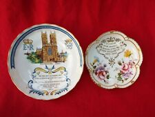 QUEEN ELIZABETH II Two Commemorative Dishes Royal Crown Derby and Aynsley