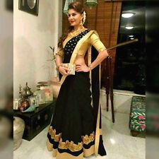 New Designer Sari Bollywood Saree Fabric Chanderi Cotten Party wear Saree Blouse
