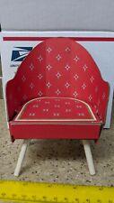 1962-3 Barbie Doll Fashion Shop Cardboard Chair Mattel Furniture Red