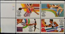 1 #2048-51 .13 LOS ANGELES SUMMER OLYMPICS PB OF 4. BIN $1.29.