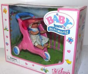 Zaph Creations Baby Born Miniworld DOLL STROLLER  DUCK BOTTLE PACIFIER NIB NRFB