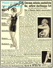 Diät Dr. Ballowitz Reklame v. 1925 Fett Reduzierer Dick Dünn schlank Masage Stab