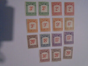 Seychelles postage dues all values  collection 1