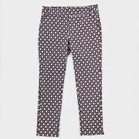 Jules & Leopold Womens Pants Size M Stretch Geometric Print Pull-On Pockets Crop