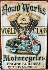MOTER BIKE Garage Rustic Look Vintage Tin Signs Man Cave, Shed & Bar SIGN