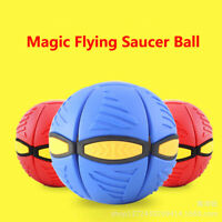 UFO Magical Flying Saucer Ball Decompression Toys Deformation Venting Light Ball