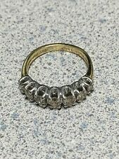 1ct  Real Natural Mine Diamond Cluster Anniversary Wedding Ring 14K Gold