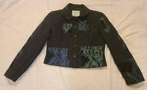 Moschino Cheap and Chic Black Women's Jacquard Jacket, size 10