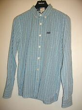 NEW * SUPERDRY * BLUE CHECKED LONG SLEEVED SHIRT SIZE MEDIUM REGULAR FIT RRP £45