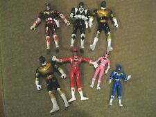 Mighty Morphin POWER RANGERS action figures lot vintage 1990s Bandai flip head