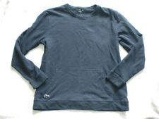 EUC Men LACOSTE PAJAMA Navy Blue Sleepwear Shirt Large with Pockets