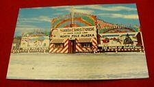 Santa Claus house Christmas postcard Home of Santa info card Alaska #2064