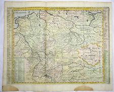 DEUTSCHLAND BÖHMEN BODENSEE PRAG KOL KUPFERSTICH KARTE CHATELAIN 1720 AD #D944S