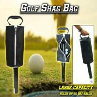 Deluxe Shag Bag Golf Ball Collector - Pick Up Balls Without Bending, Black