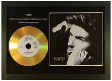 GEORGE MICHAEL-'FAITH'- SIGNED GOLD PRESENTATION CD COLLECTABLE MEMORABILIA GIFT