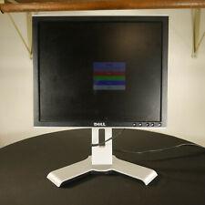 """Dell 17"""" Inch Desktop Computer PC LCD Monitor Screen Black Silver Matte USB VGA"""