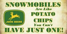 John Deere snowmobile and potato chips vinyl decal