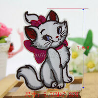 Aristocats Cute Cat Embroidered Patch Iron Sew on Fabric Cloth Badge Applique