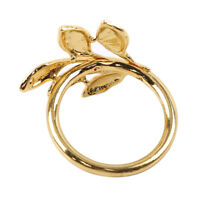 Gold Leaf Napkin Rings Set Napkin Ring Holders Wedding Party Holiday Gift jian