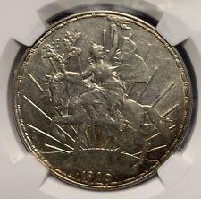 1910 MEXICO PESO SILVER COIN NGC AU55