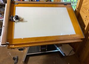 """Mayline Futur-Matic Lited Draft Table 38""""X60"""" & Vemco Mark XII V Track Drafting"""