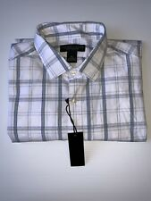 The Men's Store at Bloomingdale's Plaid Regular Fit Button-Down Shirt Sage XL