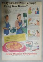 Kellogg's Cereal Ad: Working Girls Wartime Ad! from 1942 Size: 11 x 15 inches