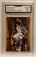 2003 Upper Deck Lebron James #30 Freshman Season Rookie Gem MT 10