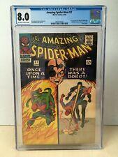 Amazing Spider-Man #37 (1966) CGC 8.0 1st Appearance Norman Osborn Ow/W Pgs