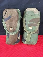 MILITARY WOODLAND CAMO MOLLE II DOUBLE MAGAZINE M16A2 30 ROUNDS POUCH - LOT OF 2
