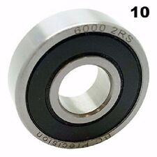 6000-2RS Sealed Bearings 10x26x8 Ball Bearings / Pre-Lubricated (Pack of 10)