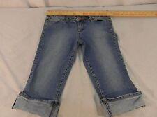 Adult Women's American Rag Cie Cotton Spandex Blue Denim Capri Jeans 31554