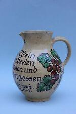 Großer Henkelkrug Weinkrug Hafnerkeramik- K.Schäfer Edenkoben