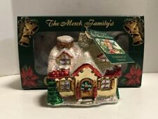Merck Old World Christmas Glass Ornament Holiday Home 2006