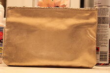 Sephora Distressed Gold Foil Make Up Case & Cosmetic Bag New holiday