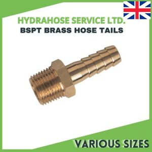 Brass hose tails BSP Tapered Fitting Thread X Hose Tail  for Fuel, air & water