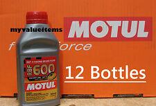 12 Motul RBF 600 Factory Line DOT 4 RACING BRAKE FLUID 100% Synthetic 500 ml Ea