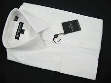 NEW! NWT! $195 Hickey Freeman Formal Tuxedo Dress Shirt!  15.5 36  Pleated Bib
