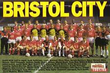 BRISTOL CITY FOOTBALL TEAM PHOTO>1991-92 SEASON