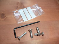 TRIUMPH SPEED TRIPLE 750 + 900 1994-97 STAINLESS FRONT MASTER CYLINDER SCREWS 2