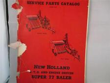 New Holland Super 77 Baler PTO & Engine Driven Service Parts Catalog Manual