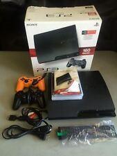 SONY PLAYSTATION 3 III PS3 160GB 160 GB STEERING WHEEL,2 GAMES, 2 CONTROLLERS