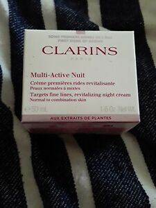 Clarins Multi-Active Night Cream For Normal to Dry Skin, 1.7 oz NEW,SEALED